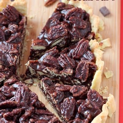 Chocolate Butterscotch Pecan Tart