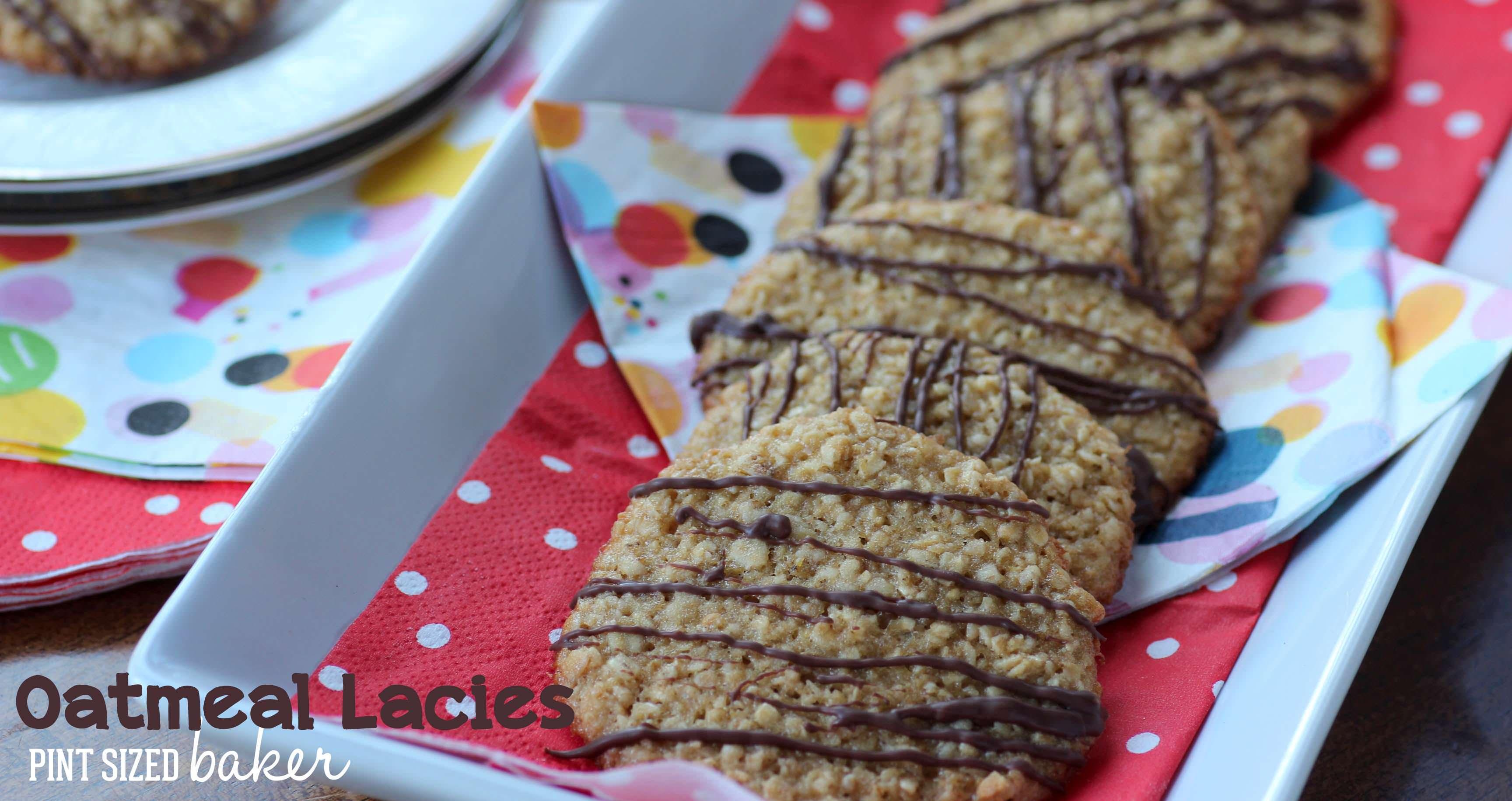 Oatmeal Lacies - Pint Sized Baker