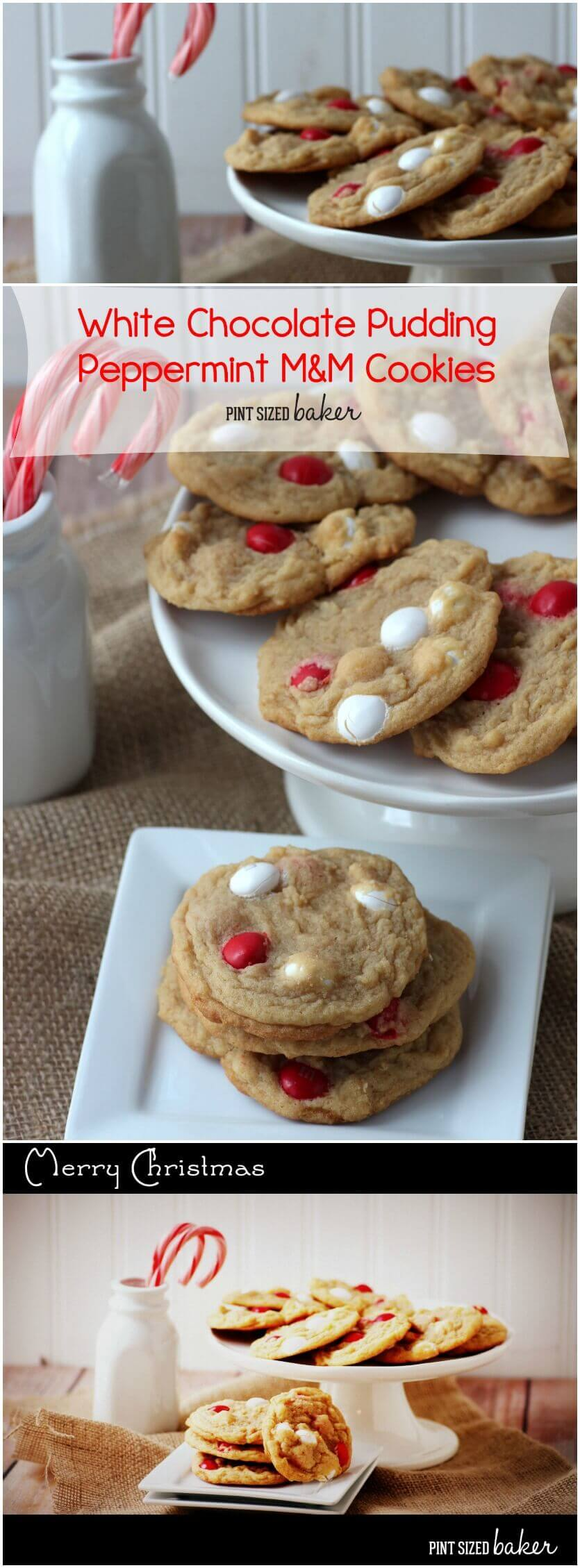 White Chocolate Pudding Peppermint Cookies that are sure to be a hit on your Christmas cookie plate this year.