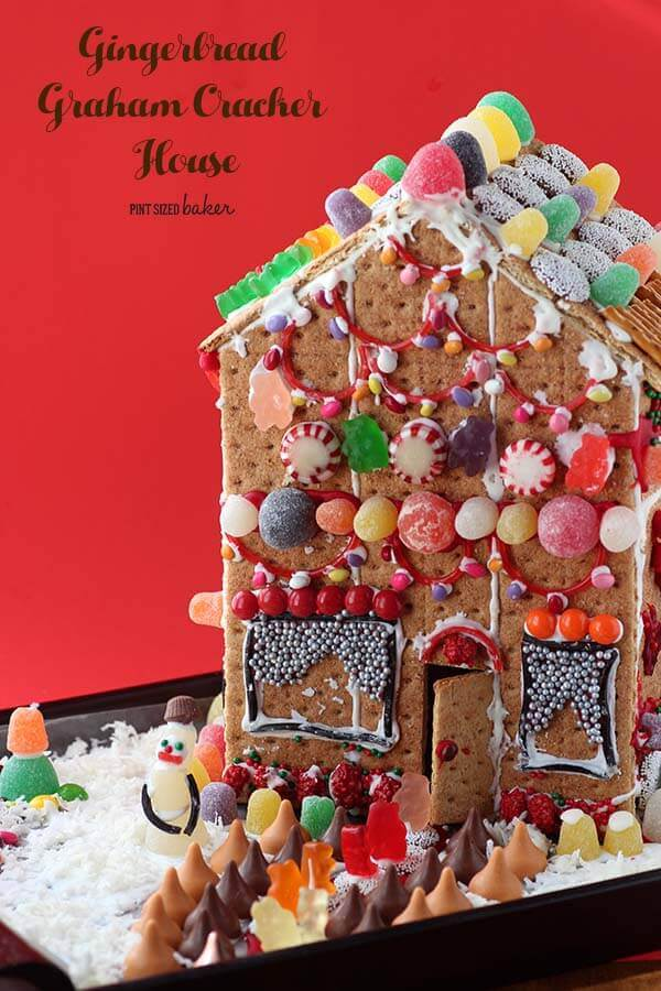 Grab the kids, graham crackers and a ton of candy and make some memories while building a Gingerbread House!