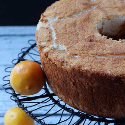 Lemon Angel Food Cake