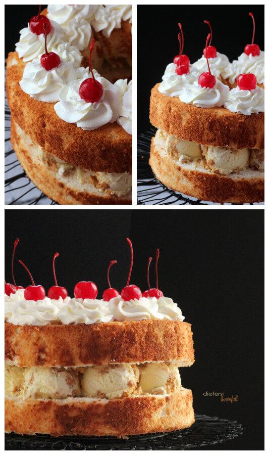 Lemon, Lime, Lemon, Whipped Cream and Cherries! So much flavor in this dessert. from #dietersdownfall.com
