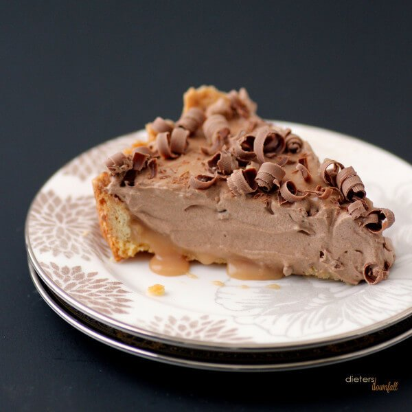 Soft Caramel base with whipped mocha mousse on top. Reminds me of a Caramel Mocha Frappuccino. from #dietersdownfall.com