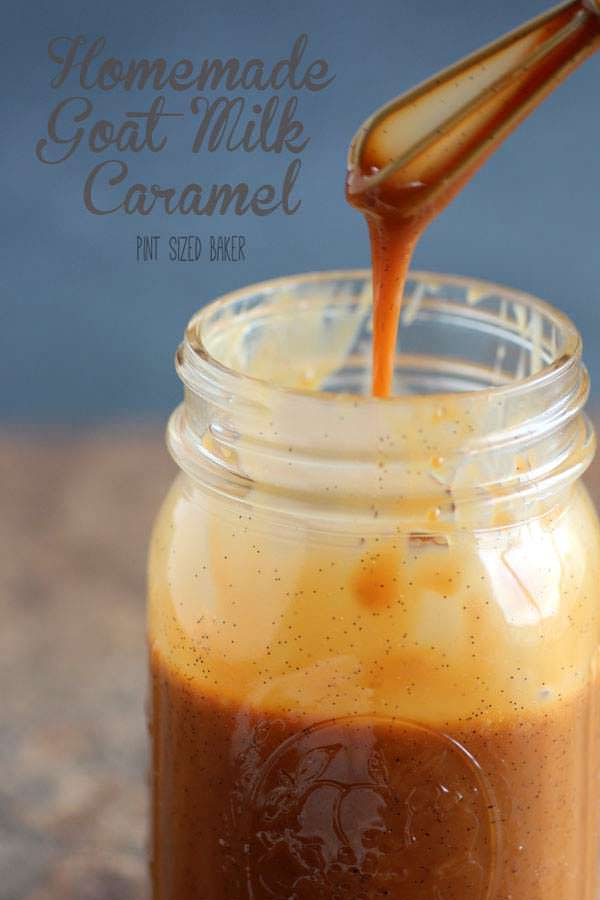 This homemade Goat Milk Caramel is sweet and full of cinnamon and vanilla beans. It is really good, so don't let the goat milk scare you off.