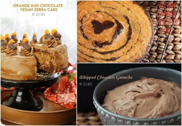 A collage image showing all of the recipes used to make this cake - the