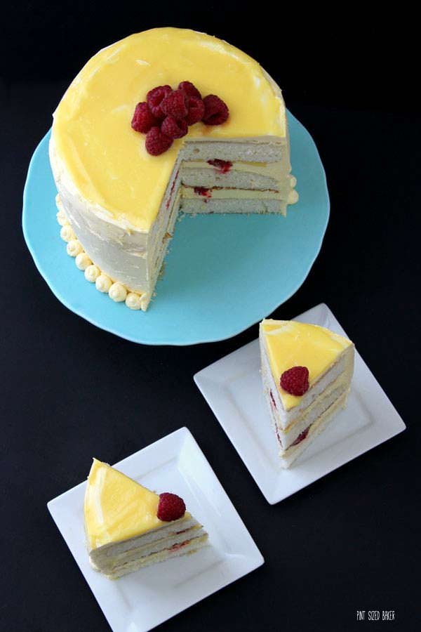 I've got a birthday coming up and I want this Raspberry and Lemon Layer Cake!
