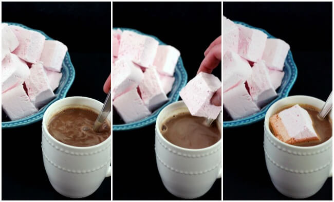Homemade Marshmallows are great in some home chocolate!