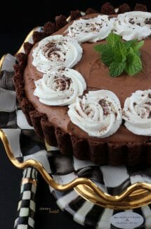 Mint Chocolate Mousse Tart