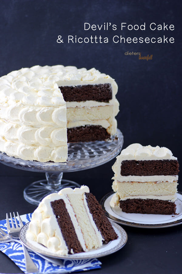 Chocolate Cake and Cheesecake - Pint Sized Baker