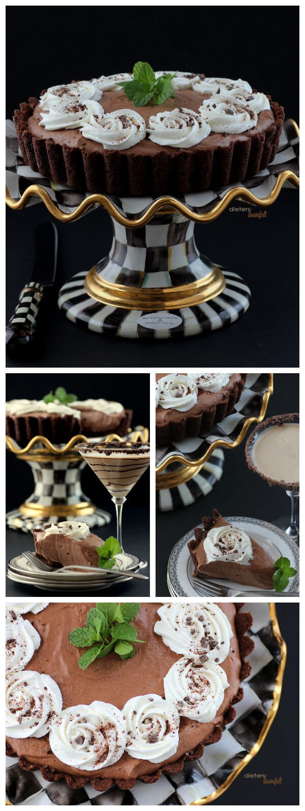 Mint. Chocolate. Cookie. Mousse. Martini. Devour! from #DietersDownfall.com
