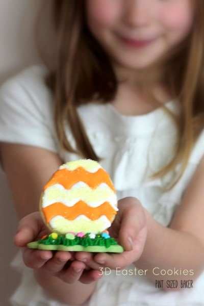 3D Easter Egg Cookies