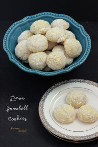 Light and Flaky, tart and lemony - Lemon Snowball Cookies. from #DietersDownfall.com