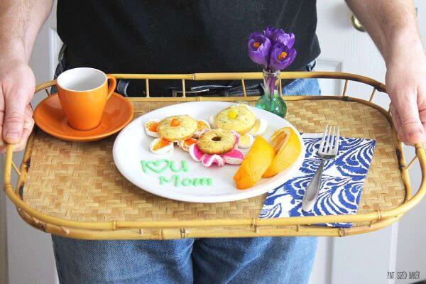 Enjoy Breakfast in bed this Mother's Day when your family delivers some Flower Donuts!