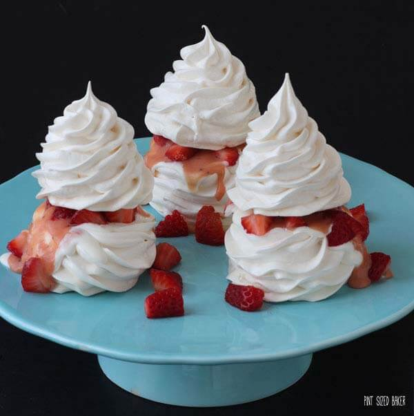 Homemade Strawberry Meringues are simply stunning to serve to your party guests.