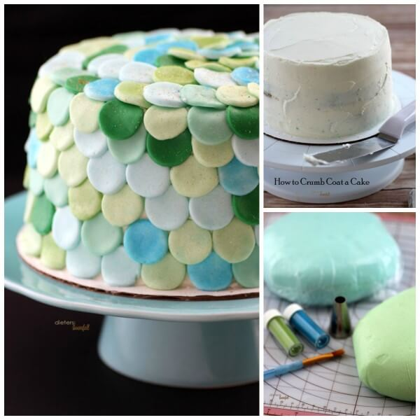 Three tutorials on crumb coating a cake, making delicious fondant, and decorating a cake. from #DietersDownfall.com
