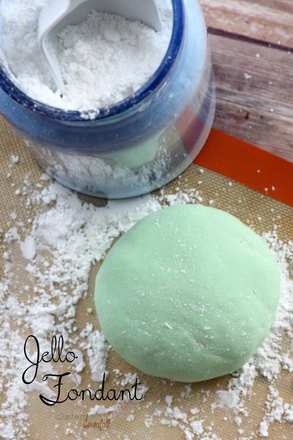 How to make delicious Jello Fondant. from #DietersDownfall.com