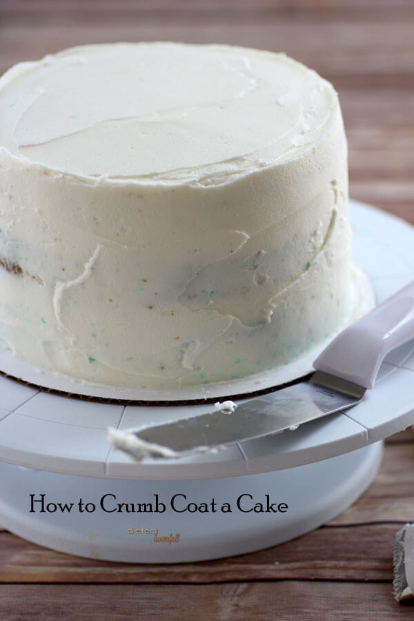 An easy tutorial on how to crumb coat a cake.