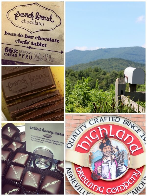 Enjoy the Sight's that Asheville, NC has to offer while eating chocolates and drinking beer.