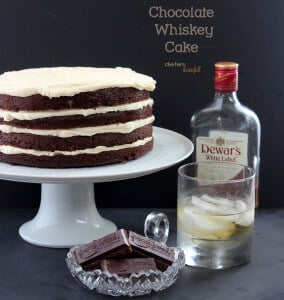 Chocolate Whiskey Cake with Homemade Dulce de Leche Buttercream. from #DietersDownfall