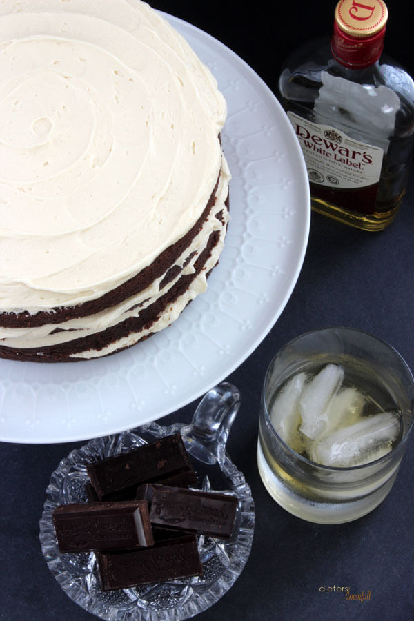 Superbly Simple. Chocolate Whiskey Cake with Buttercream. The perfect gentleman's dessert. from #DietersDownfall