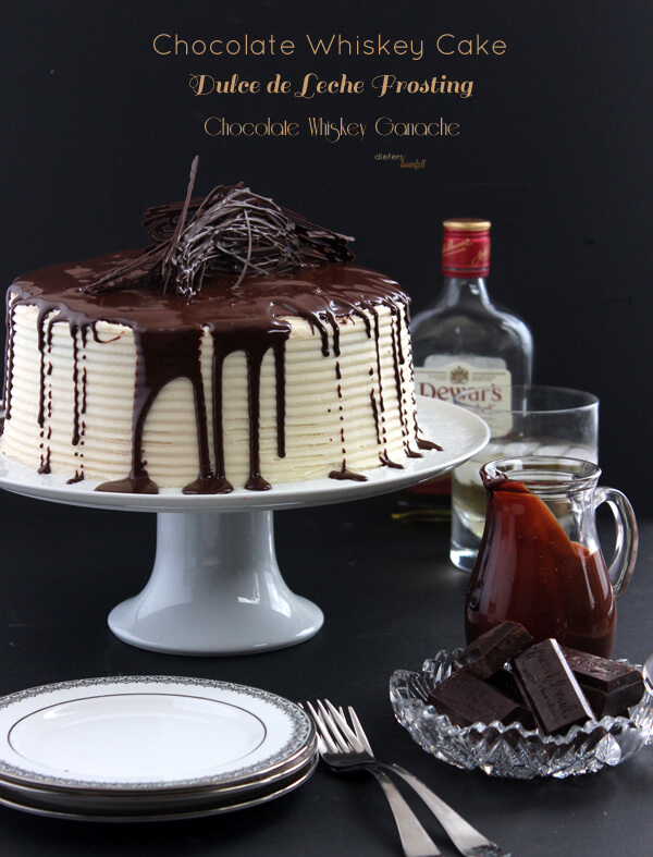Triple Whiskey Threat - in the cake, frosting and ganache coating. A great gentleman's cake.