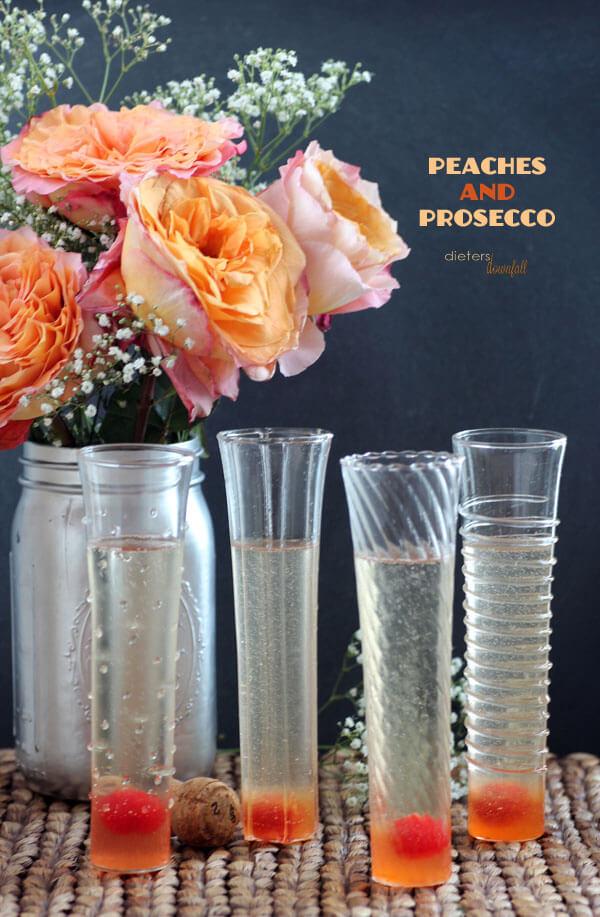 Peach Prosecco Cocktail
