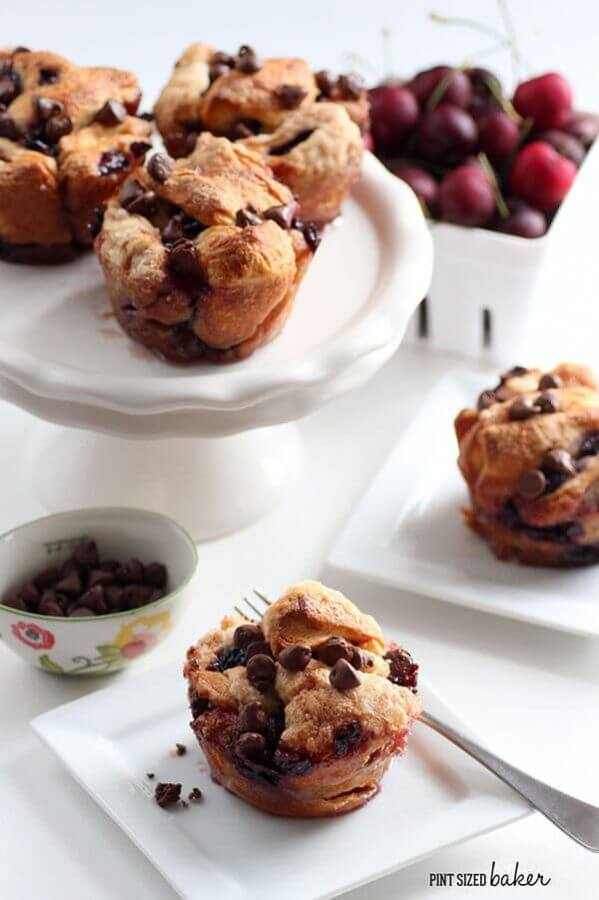 Image linking to my Chocolate and Cherry Monkey Bread Muffins recipe.