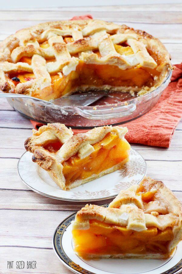 A slice for you and a slice for me! This perfect peach pie feeds the whole family!