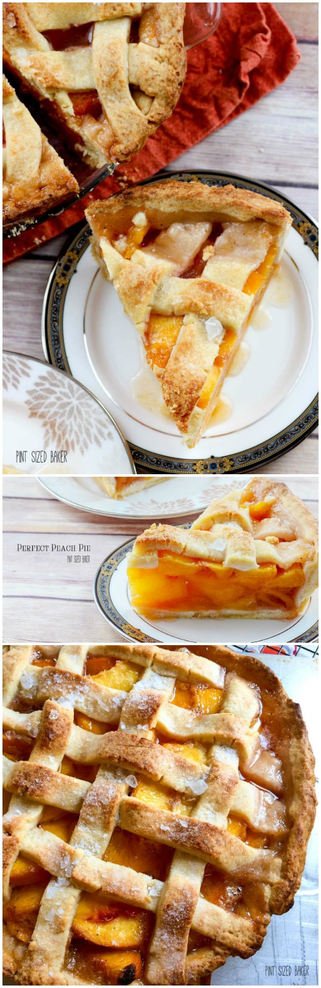Perfect Peach Pie Recipe. Grab some seasonal fresh peaches and bake a pie. This recipe is the best!