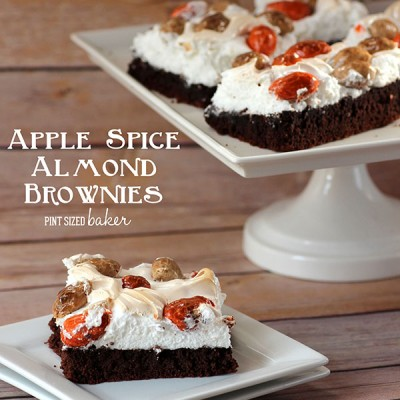 Apple Spice Almond Brownies