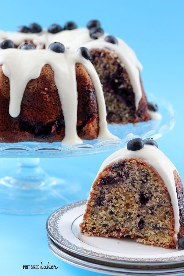 Blueberry Marble Cake - Pint Sized Baker