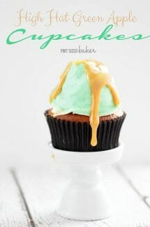 Green Apple High Hat Cupcakes