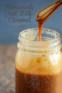 Homemade Goat Milk Caramel spiced with cinnamon and sweetened with vanilla. from #DietersDownfall