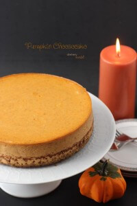 Simple and Elegant to serve at a dinner party - Pumpkin Cheesecake with Ginger Snap Crust. from #dietersdownfall.com