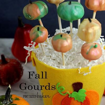 Fall Gourd Cake Pops