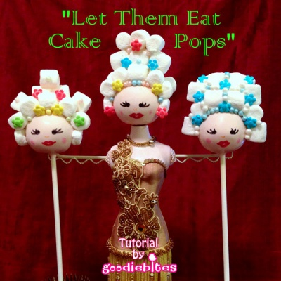 Marie Antoinette Cake Pop Tutorial