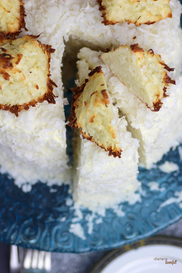 Care for a slice of this triple coconut cake? For serious coconut fans only! from #DietersDownfall