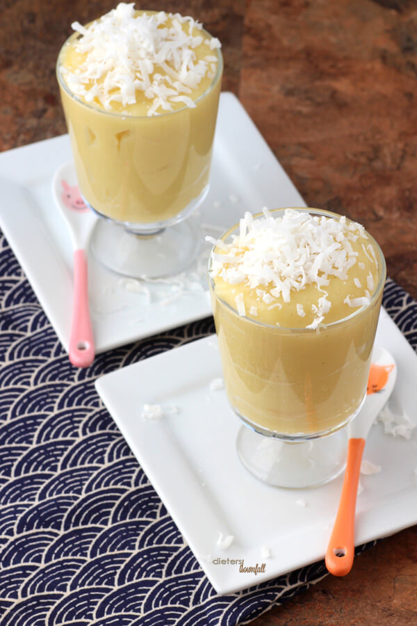 Coconut Pudding. Enjoy it as is or spread it between a layered cake. from #DietersDownfall