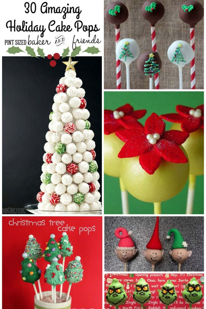 30 Christmas Cake Pops Collage 600