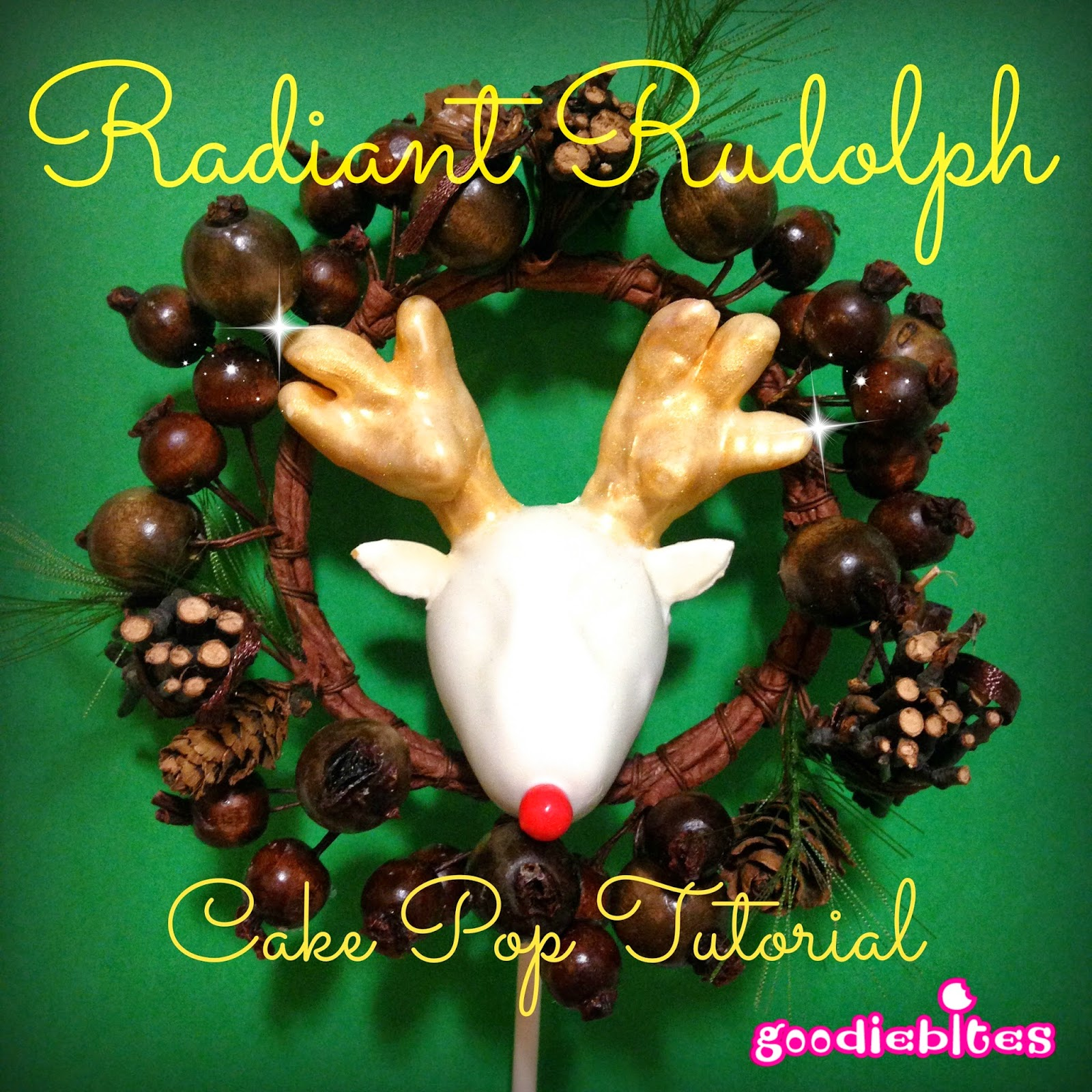Reindeer busts are all the rage, so why not have fun and make some Rudolph Cake Pops for your Christmas party! This tutorial shows you how!