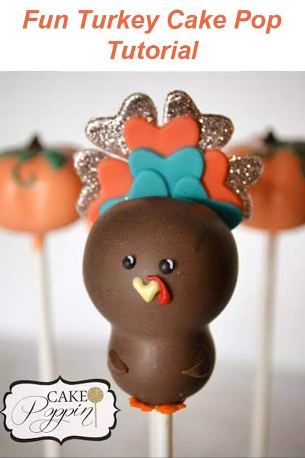 Learn how to make this cute Turkey Cake Pop for your Thanksgiving table.