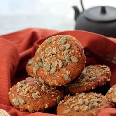 Pumpkin Muffins with Sugared Pepitas
