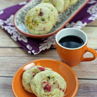 Cranberry and Pistachio Holiday Sugar Cookies
