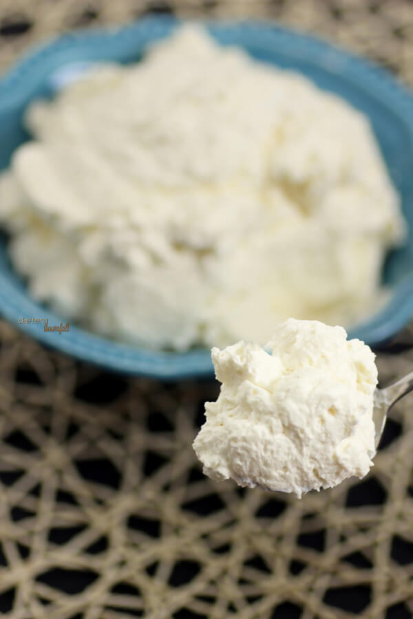 Fluffy Buttercream frosting spiked with Rum. It's an easy frosting that everyone will love! from #DietersDownfall