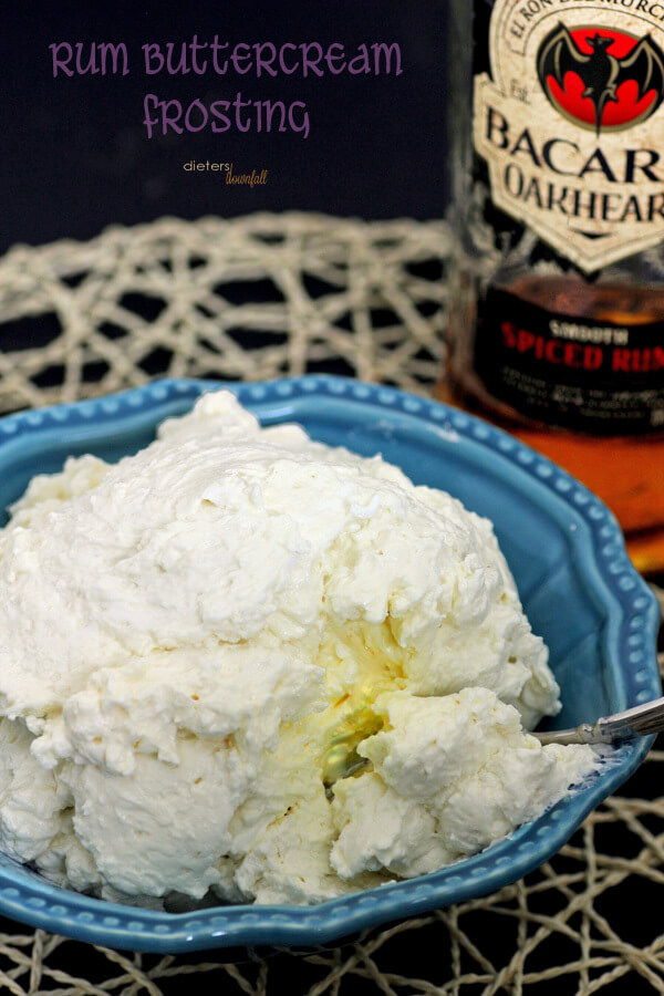 Easy Buttercream made with egg whites and butter. Smooth and silky every time! from #DietersDownfall