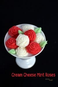 Cream Cheese Mint Roses
