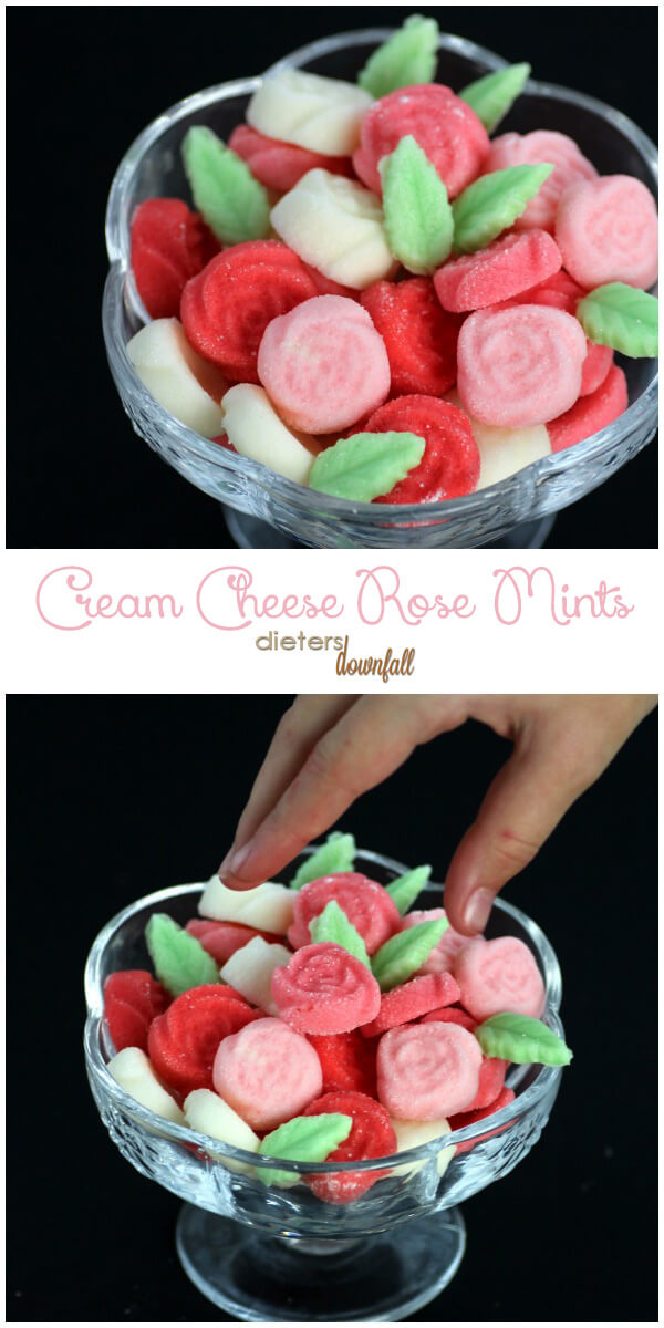 Bet you can't eat just one Cream Cheese Rose Mint. They're perfect for wedding favors. from #DietersDownfall