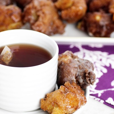 Glazed Apple Pie Fritters