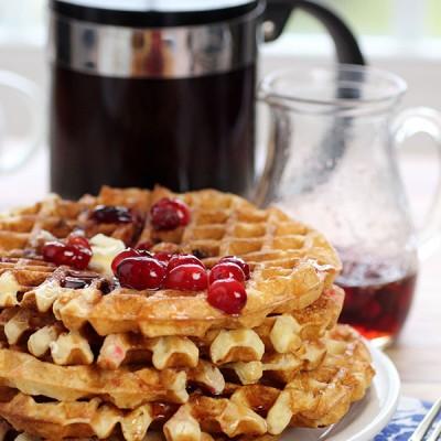 Merry {Cran}Berry Waffles