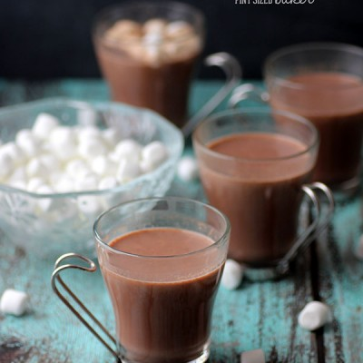 Stove Top Hot Chocolate with Peppermint Dippers